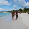Walking the beach in West Bay.