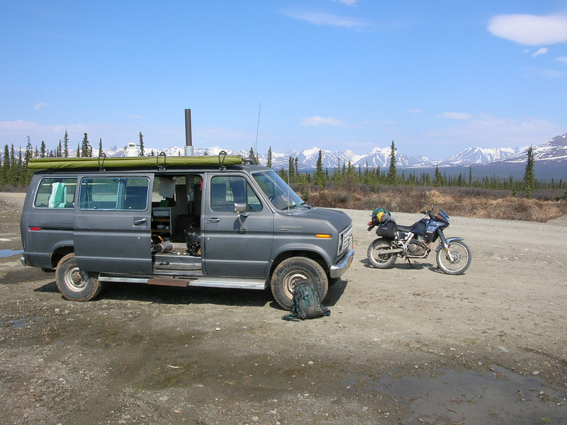 we camped in the van this winter on the way to soule lake