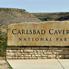 Carlsbad Park entrance. The road continues up the canyon behind the sign.