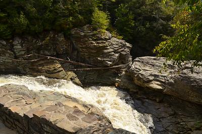 Upper portion of Linville Falls.