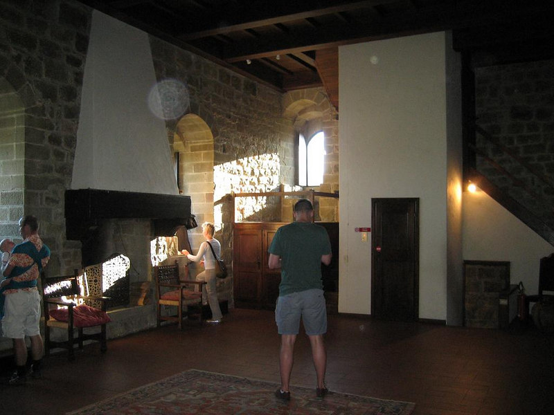 2nd floor of the castle of Porciano that was used as a kitchen, it seems, with a giant fireplace and cooking pot