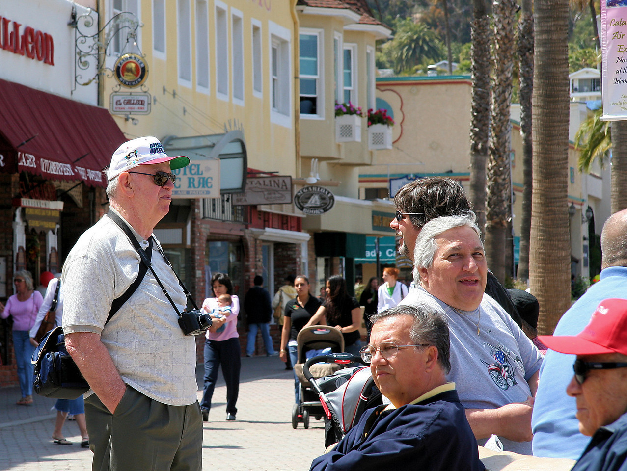 Old Geezers Watching the Tourists