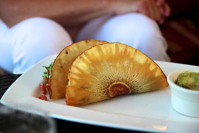 breadfruit taco on the fish taco