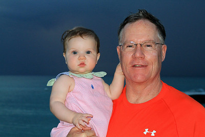 Quinn, 9 months old, with Don at Cayman Islands 12-26-2013.