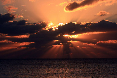 Sunset in Cayman 1-7-10