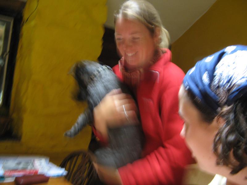Natasha with her dog Isilde