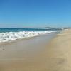 Heavy beach surf.