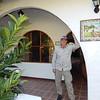 Alan outside room at Rio Perlas