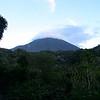 Cloud hung on the top of Volcan Atitlan.