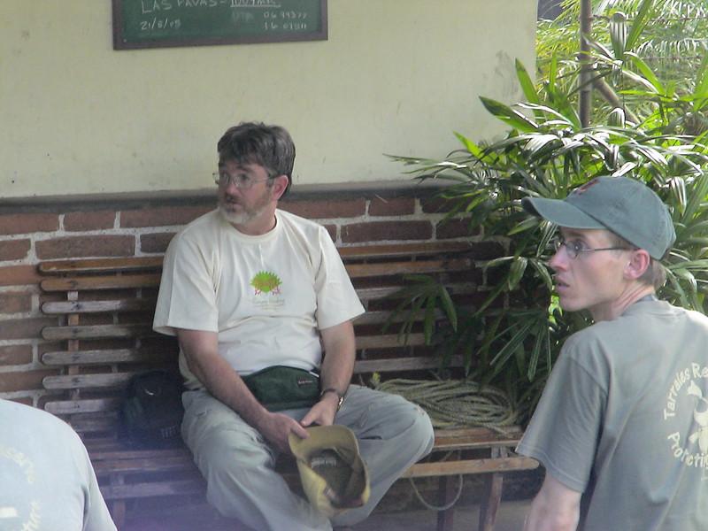 Alan and Knut at Las Tarrales.