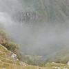 Fog settles in to Machu PIcchu.
