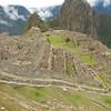 Overlook of Machu Picchu village.
