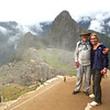 Kim and Alan enter Machu Picchu.