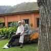 Kim and Alan in the restaraunt garden