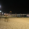 Copacabana Beach, Rio de Janeiro at night.