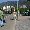 Kim, walking the streets of Rio de Janeiro.