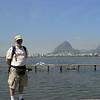 Alan in front of Sugar Loaf Mountain, Rio de Janeiro,