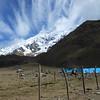 Passing over high Andean pastureland toward Mount Salkantay.