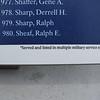 Asterisk denotes multiple war service.