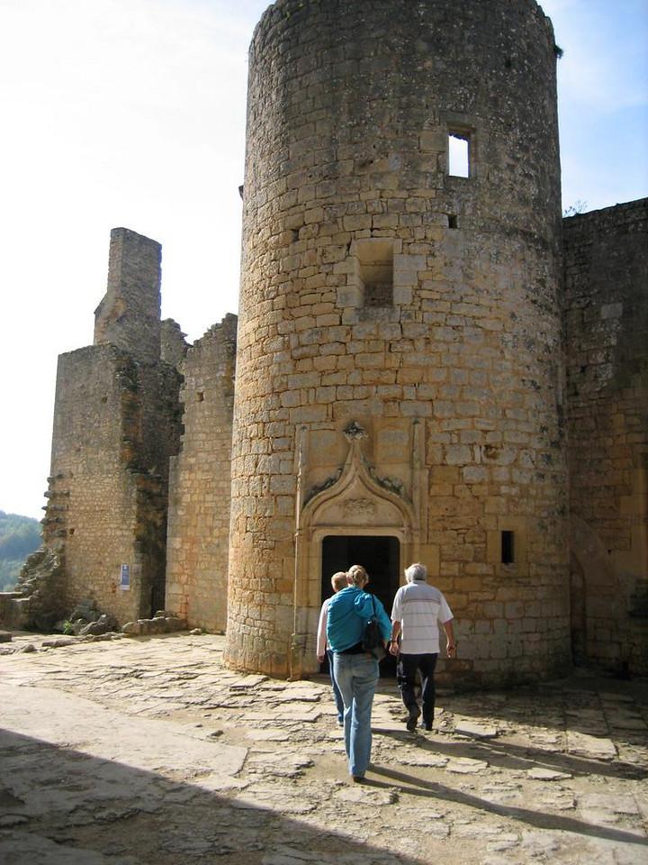 Chateau de Bonaguil, inside the castle
