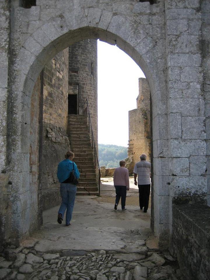 Chateau de Bonaguil, main entrance gate