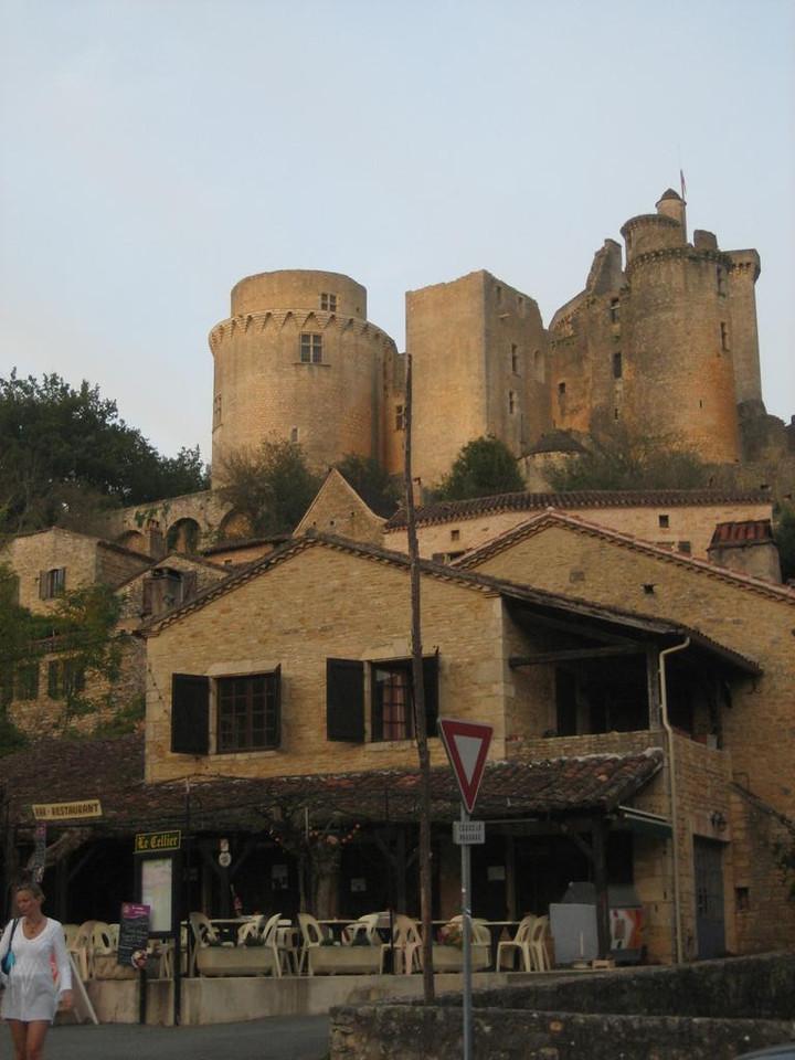 Chateau de Bonaguil, view from village below