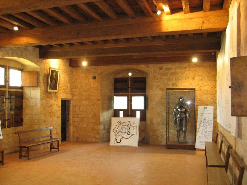 Historic diningroom at Chateau de Bonaguil