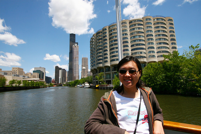 Chiling on the architecture boat tour