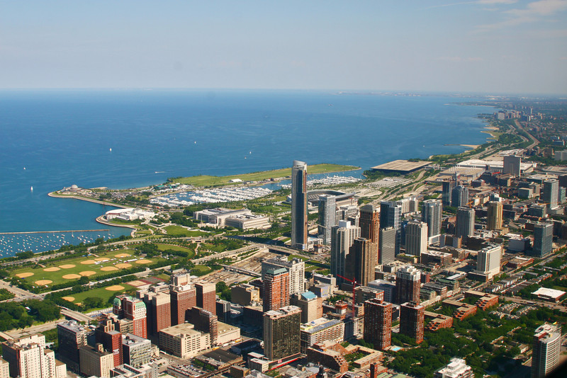 Lake Michigan viewed from Sears Tower