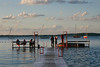 A floating pier on Lake Mendota