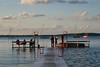 A floating pier on Lake Mendota