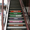 You can take the stairs up to the el (elevated train) in downtown Chicago.