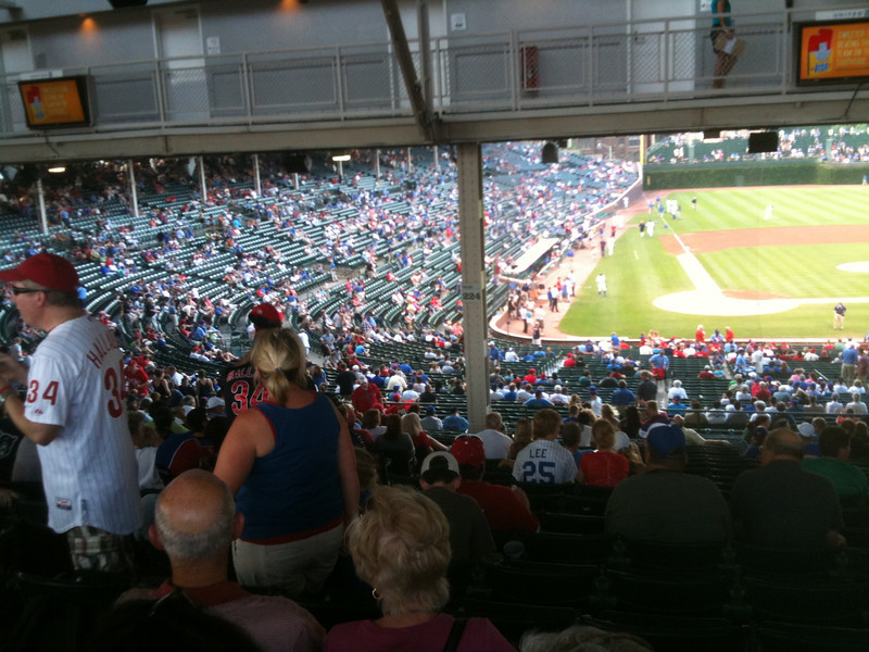 Another great shot of the seats (200 level, out of the blazing heat....excellent!)