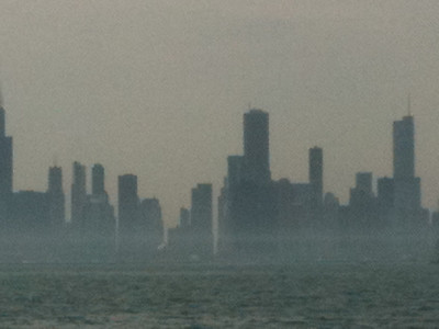 Chicago Skyline (it was a hot and hazy weekend!)