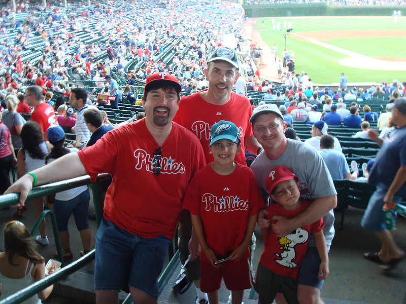 The Phillies boys at Wrigley!