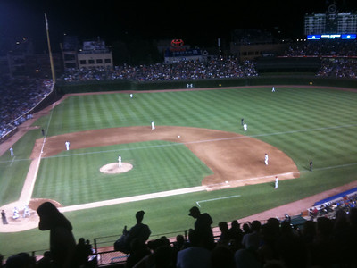 Wrigley under the lights.