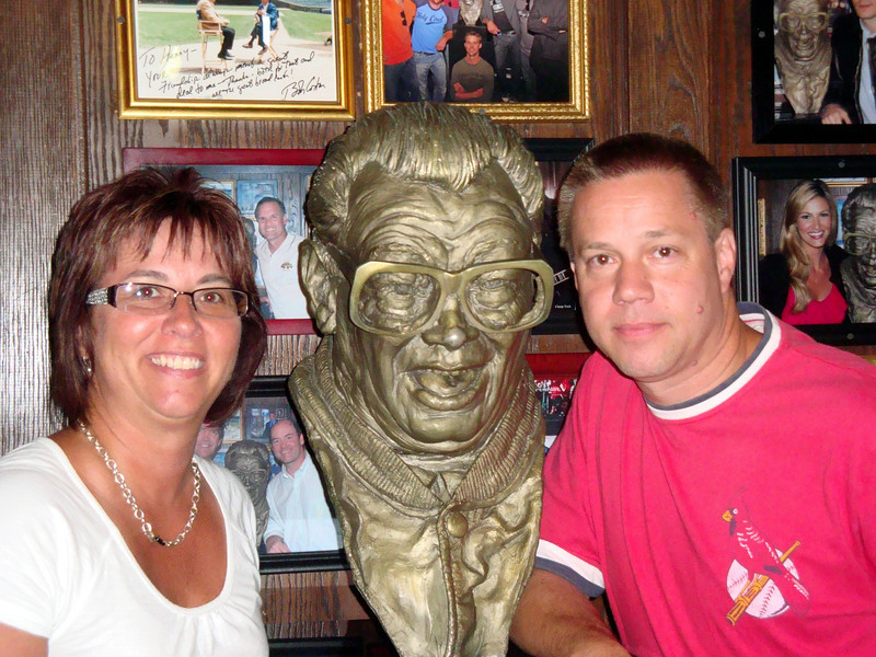 Todd and Lori at Harry Caray's in Chicago ( 2011 )