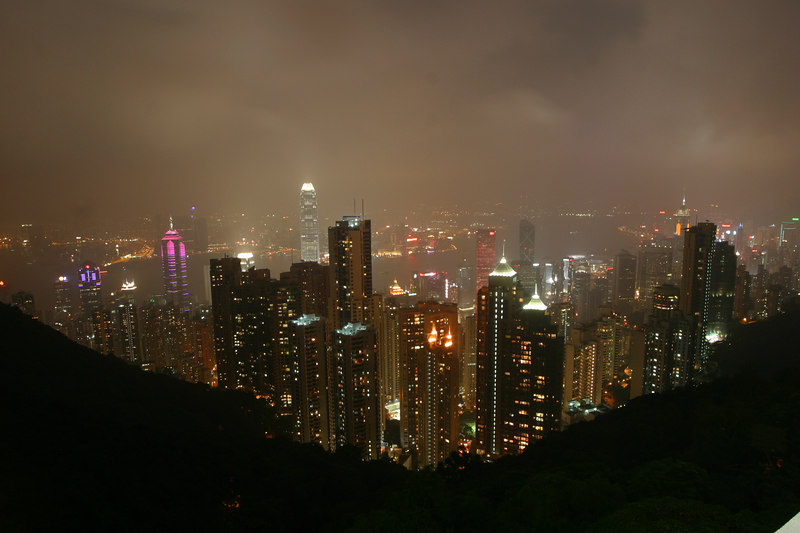 Night view from Victoria peak