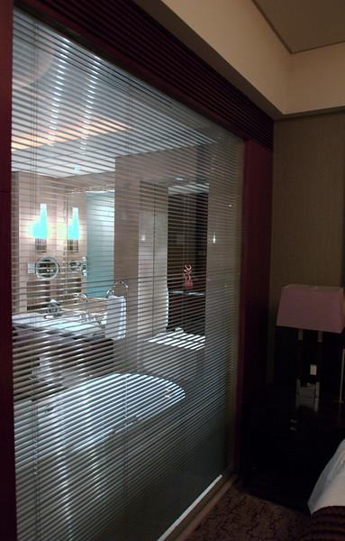 China, Beijing, The Regent Beijing, Bathroom Window