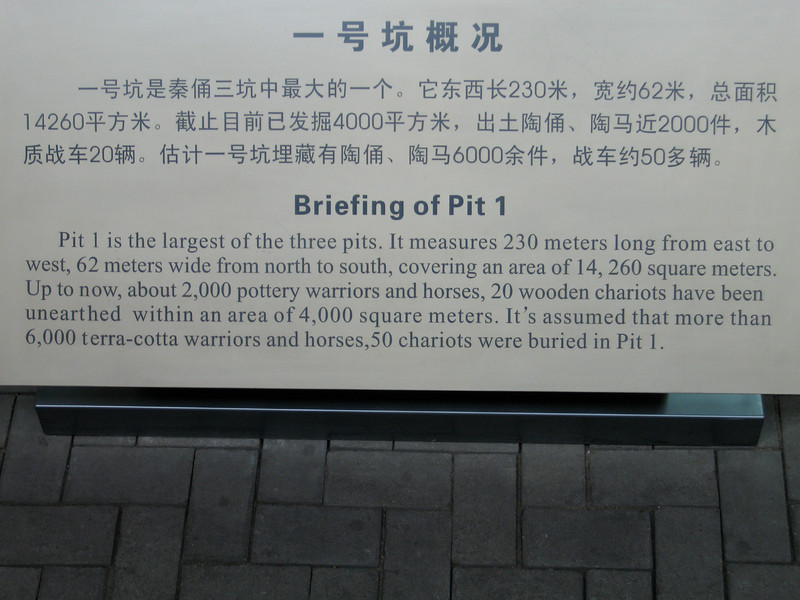 China, Xi'an, Terra Cotta Army Museum, Signs, Briefing of Pit 1