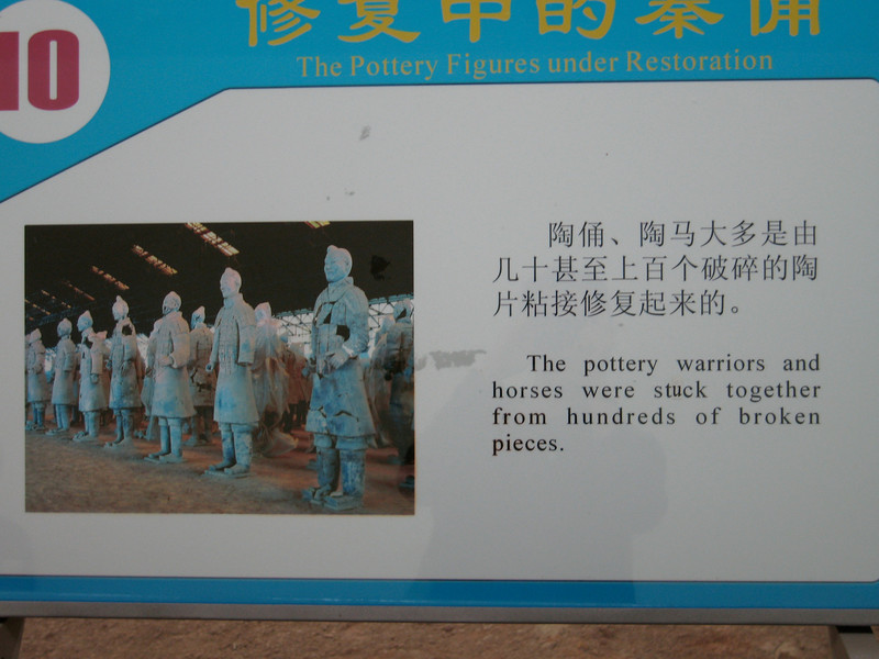 China, Xi'an, Terra Cotta Army Museum, Signs
