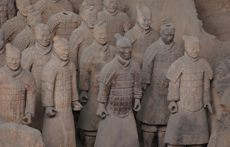 China, Xi'an, Terra Cotta Army Museum, Soldiers