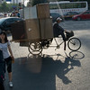 Heavy hauling motorized bike by our hotel in Beijing
