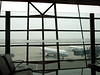 Beijing airport waiting for our flight to Chongqing. Several hours delay.