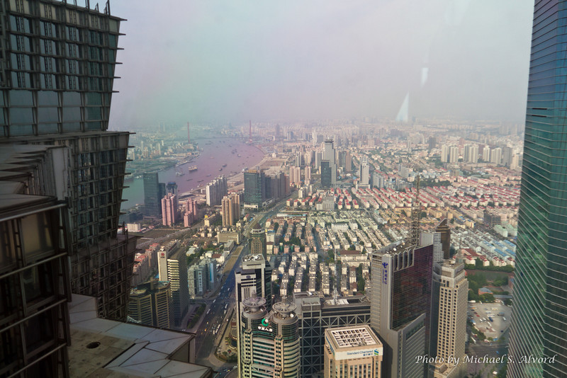 View of Shanghai from a very tall building