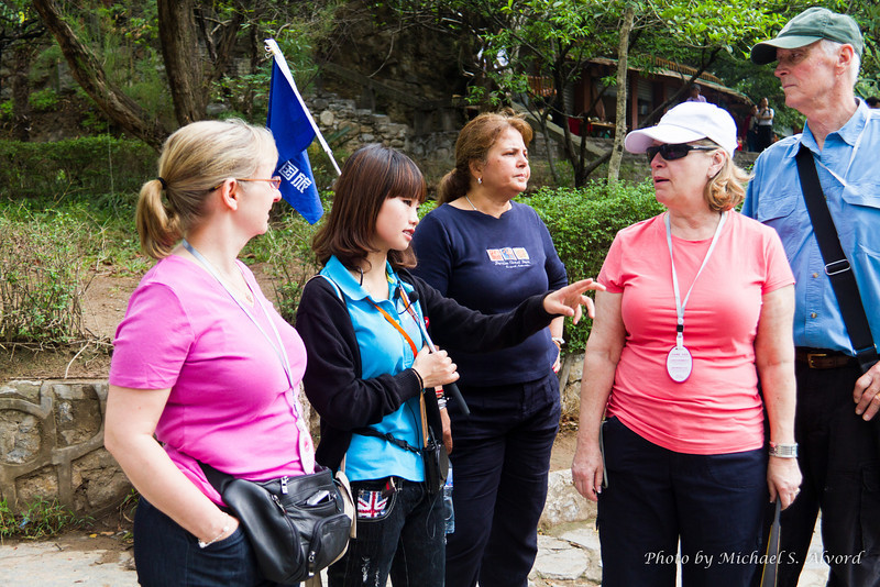 With our tour guide and some others at the Winter Garden excursion