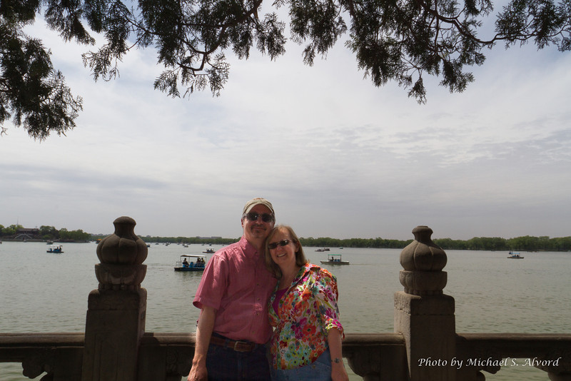 At the Summer Palace in Beijing. It was a very pretty garden/park but as everywhere in Beijing a lot of people.