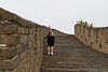 "Walking some of many ""stairs"" on the great wall. You would think going up is the hardest but because of the unevenness of the stairs coming down was not easy either."
