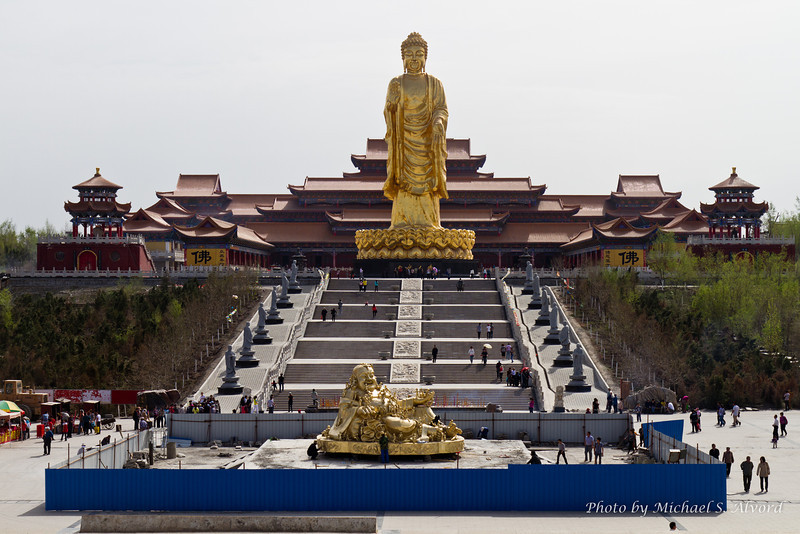 The Big Buddha is the original Buddha that founded Buddism, the bottom is the laughing or smiley Buddha that most of us Western identify with. This was in Urumqi where Mike was for work for 3 weeks.