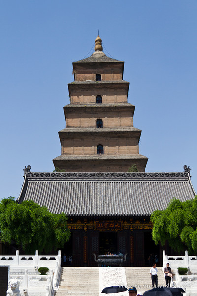 Big Goose Pagoda Temple in Xi'an, a Buddisht Temple